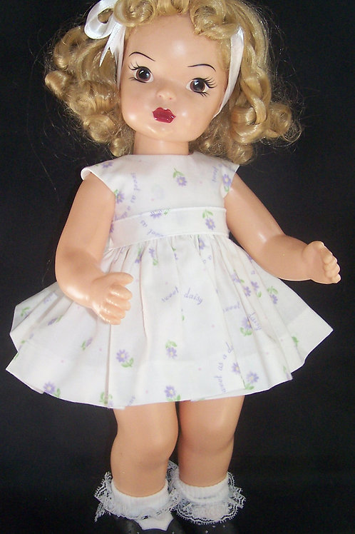 "Sweet as a Daisy Dress for 16"" Terri Lee or 16"" Saucy Walker"