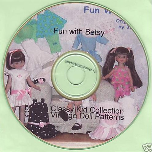"14"" Betsy McCall Patterns on CD"