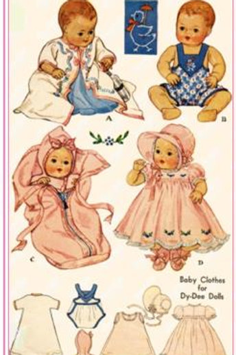 "20"" Baby Doll Pattern Set"
