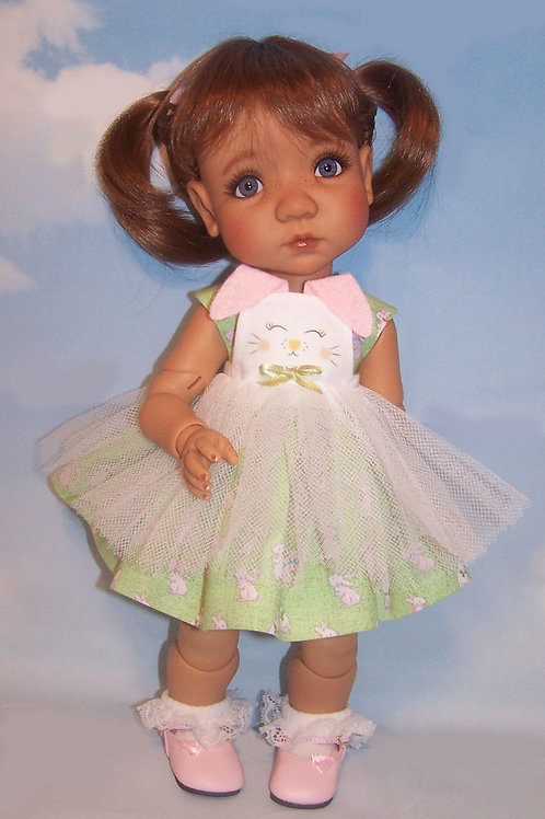 "Bunny Dress with Pinafore for 16"" Mae or Aya"