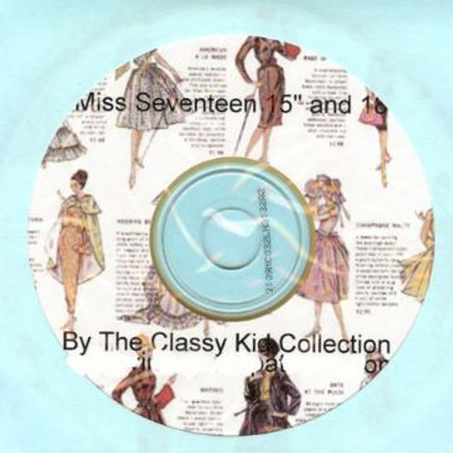 "15"" and 18"" Miss Seventeen Doll Patterns on CD"