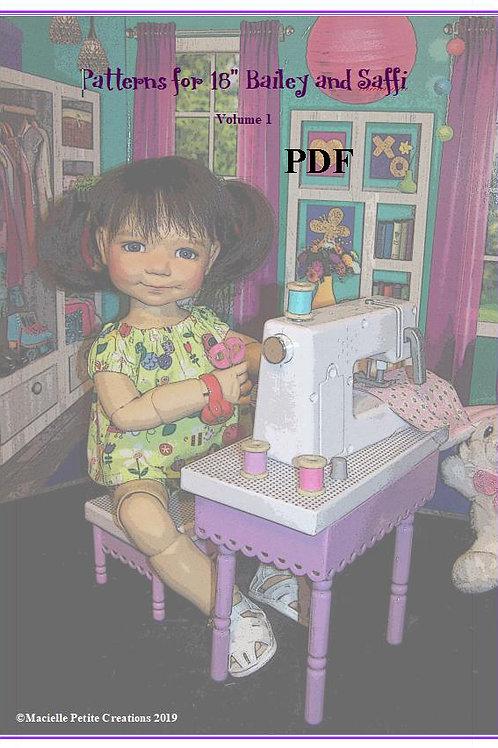 "PDF - 18"" Bailey and Saffi Patterns Volume 1 - PDF Format"