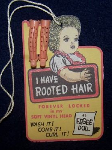 Eegee Doll with Curlers