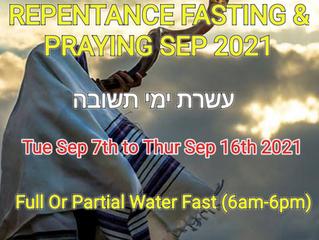10 DAYS OF FASTING & PRAYING TUESDAY 7TH OF SEPTEMBER – THURSDAY 16TH OF SEPTEMBER 2021