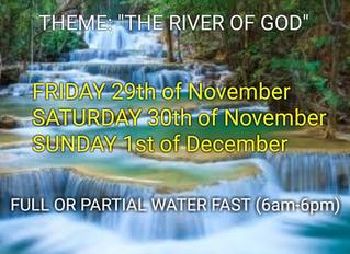 3 DAYS FASTING AND PRAYER FOR NOVEMBER 29th, 30th & 1st DEC DEDECEMBER 2019