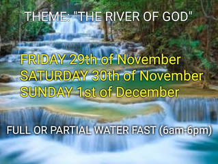 3 DAYS FASTING AND PRAYER FOR NOVEMBER 29th, 30th & 1st DEC DEDECEMBER 2019