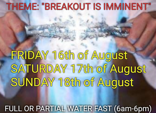 3 DAYS FASTING AND PRAYER FOR AUGUST 2019