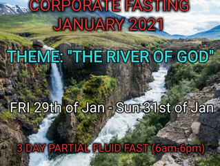 3 DAYS FASTING AND PRAYER FOR JANUARY 29th, 30th & 31st Of 2021