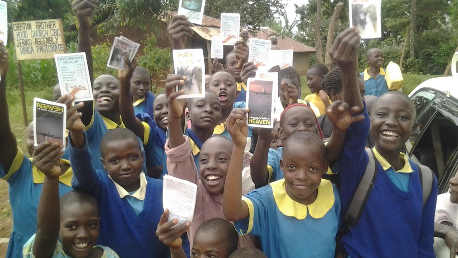 Gospel tract outreach