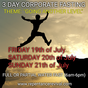 MONTHLY 3 DAY FASTING JULY 2019