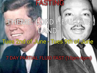 7 DAYS FASTING AND PRAYER FOR JUNE 2ND TO 9TH 2020