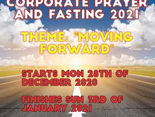 7 DAY CROSSOVER CORPORATE PRAYER AND FASTING MONDAY 28TH of DECEMBER 2020 – 3RD of JANUARY 2021