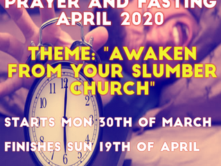 21 DAYS OF PRAYER & FASTING FROM MONDAY MARCH 30TH TO 19th OF APRIL 2020
