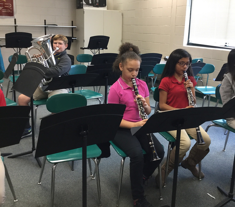 beginning band students