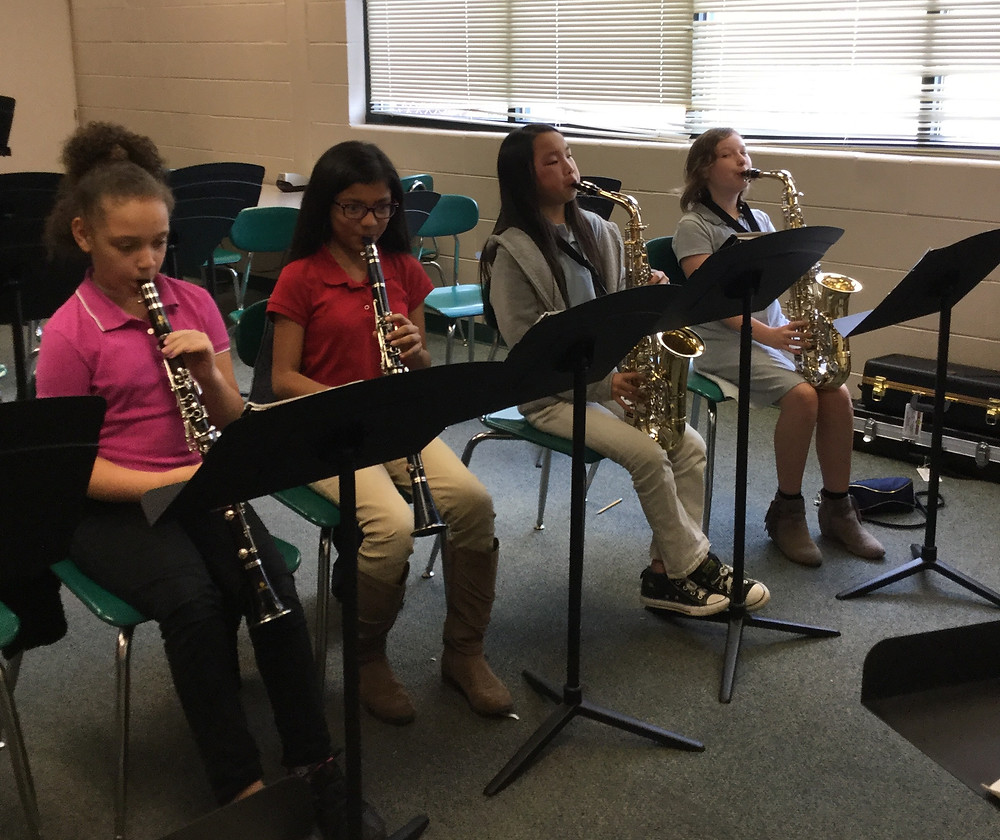 beginning band students