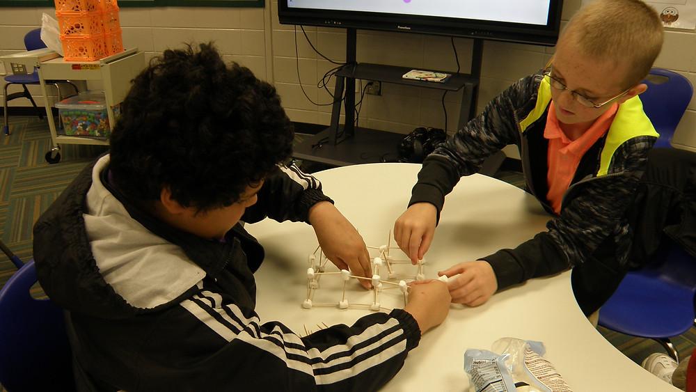 geometric shapes, team building