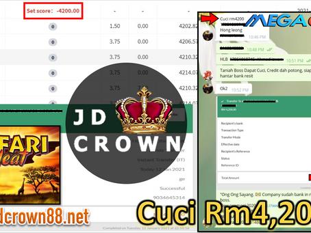 Member Berjaya cuci RM 4200 Dalam Mega888
