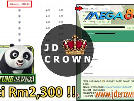 Member bet rm0.50 dan cuci RM2300 dalan game Panda