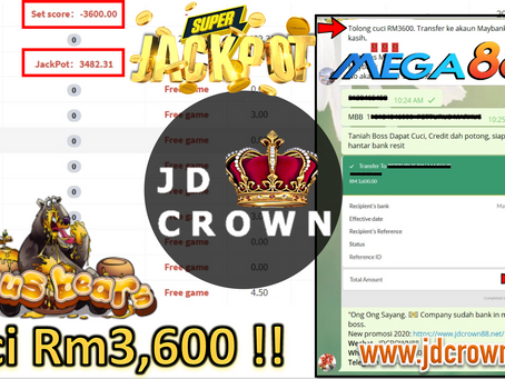 Member cuci RM3600 selepas dapat Jackpot