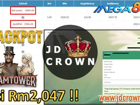 Jackpot RM 2000 jatuh dalam SteamTower