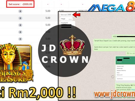 Member Cuci RM 2000 Dalam Game Mega888