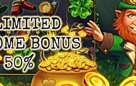 50% Unlimited Welcome Bonus