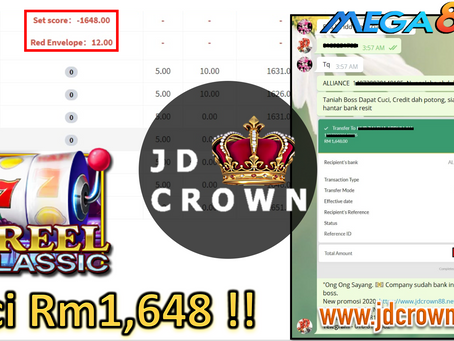 Member Cuci RM 1648 Semasa Main Game Reel Classic