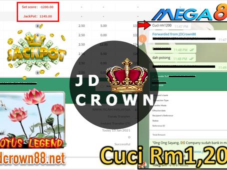 RM 1200 Telah Dicuci selepas dapat Jackpot Dalam Mega888