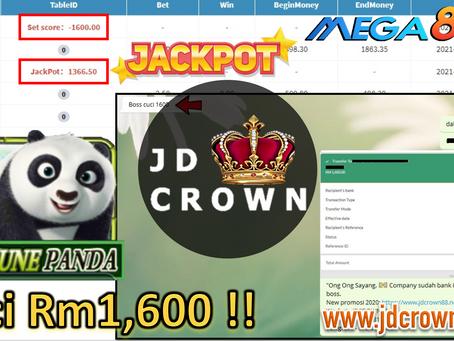 Member Cuci RM 1600 Selepas Dapat Jackpot Dalam Mega888