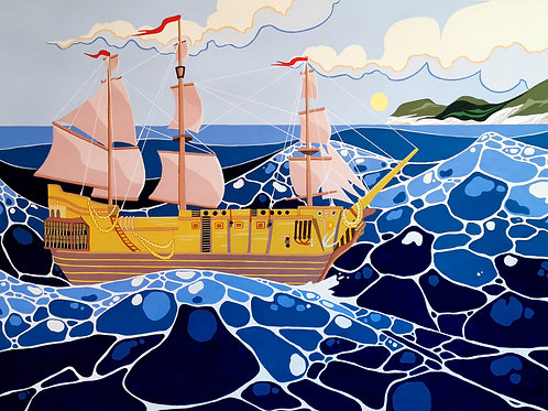 Tall ship at Lyme Regis