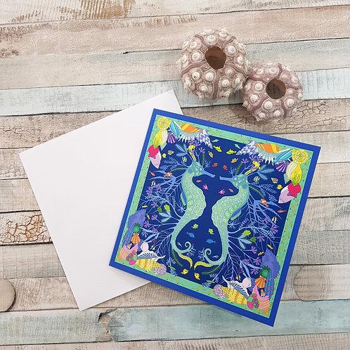 Purbeck seahorse card