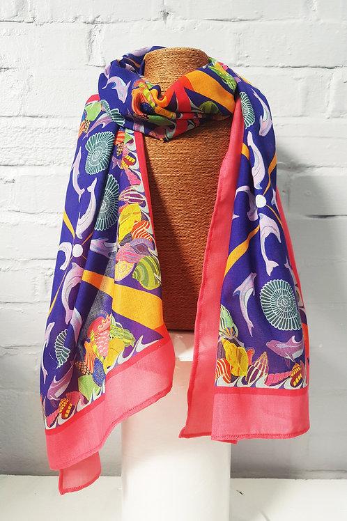 Dorset dolphin long scarf