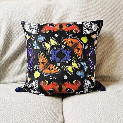 British butterflies cushion
