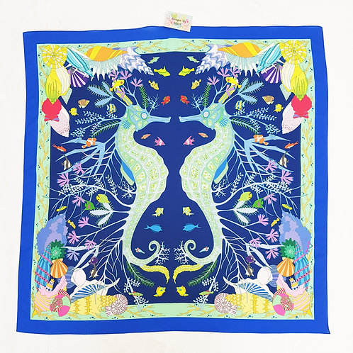 Purbeck seahorse scarf