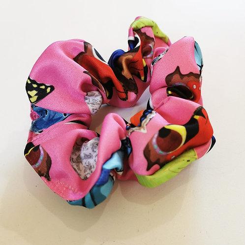 British Butterfly in Pink Scrunchie