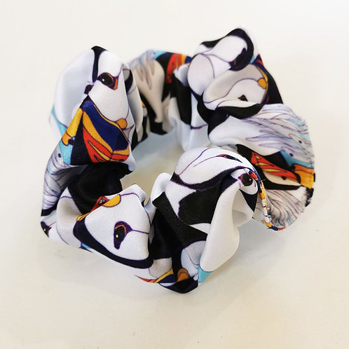 Puffin Party Scrunchie