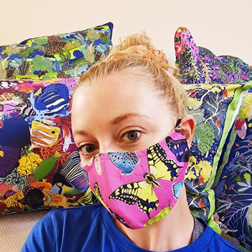British butterflies facemask