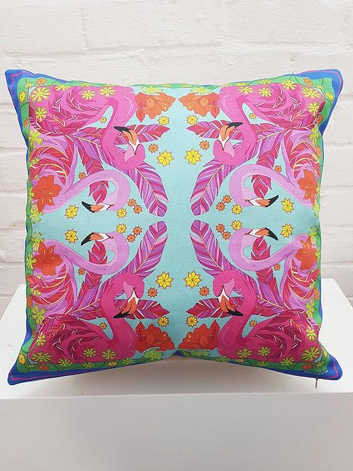 Flamingo fever Cushion