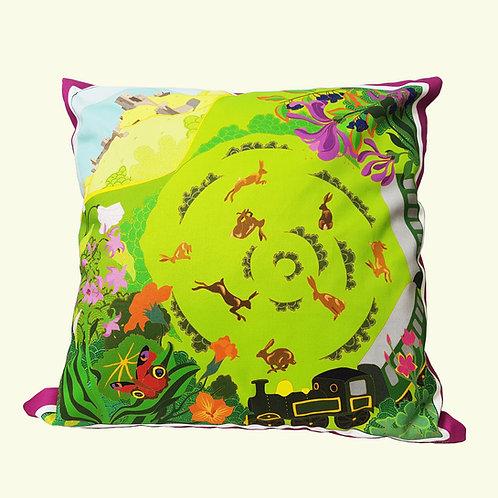 Corfe Castle countryside cushion