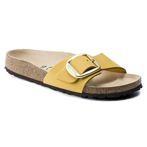 Birkenstock Madrid Nubuck Leather Big Buckle Ochre Yellow 116399