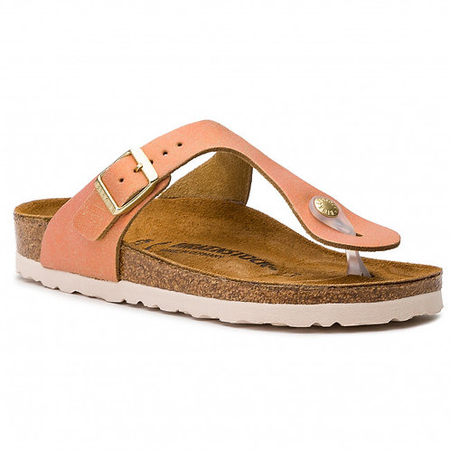Birkenstock Gizeh Suede Leather Washed Metallic Sea Copper 116223