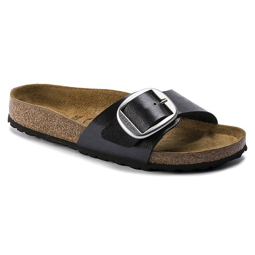 Birkenstock Madrid Birko-Flor Big Buckle Graceful Licorice 114598