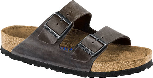 Birkenstock Arizona oiled Leather Soft Footbed Iron Grey 113157