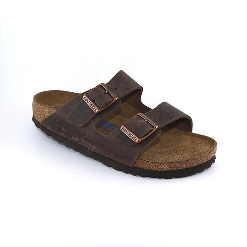 Birkenstock Arizona  oiled Leather Soft Footbed Habana 113147