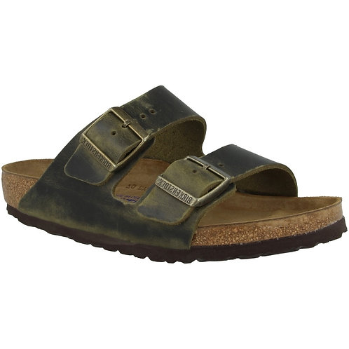 Birkenstock Arizona oiled Leather Soft Footbed Jade Green 114595