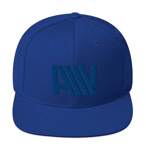 Lean Back Monochromatic Blue Snapback Hat
