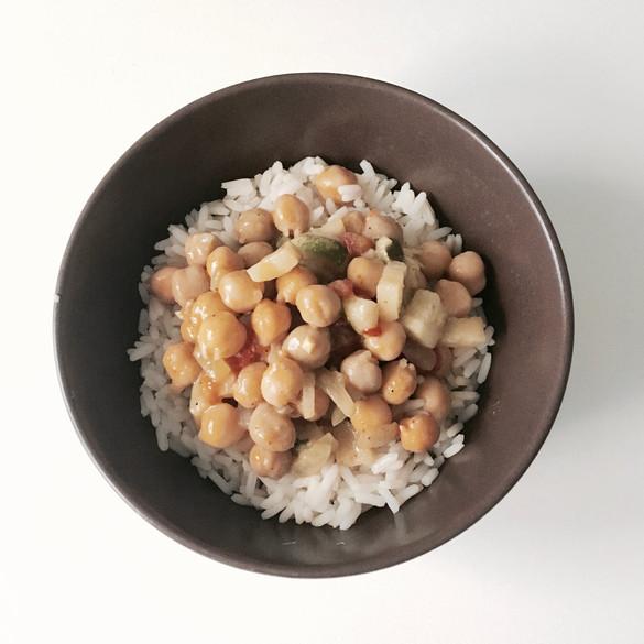 Curry de pois chiches (végétalien)