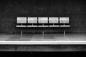 Row of benches