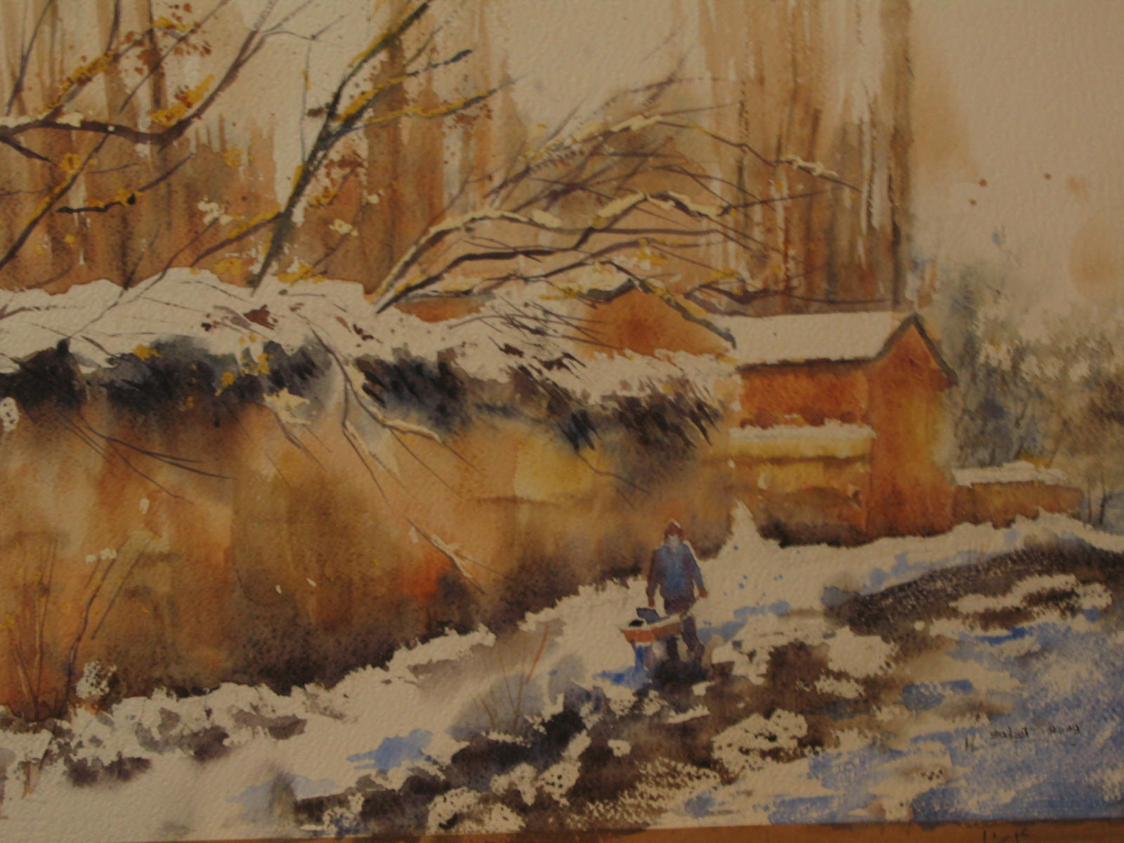in+the+Snow+34x55+cm+watercolour.JPG
