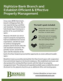 Rightsize Bank Branch and  Establish Eff